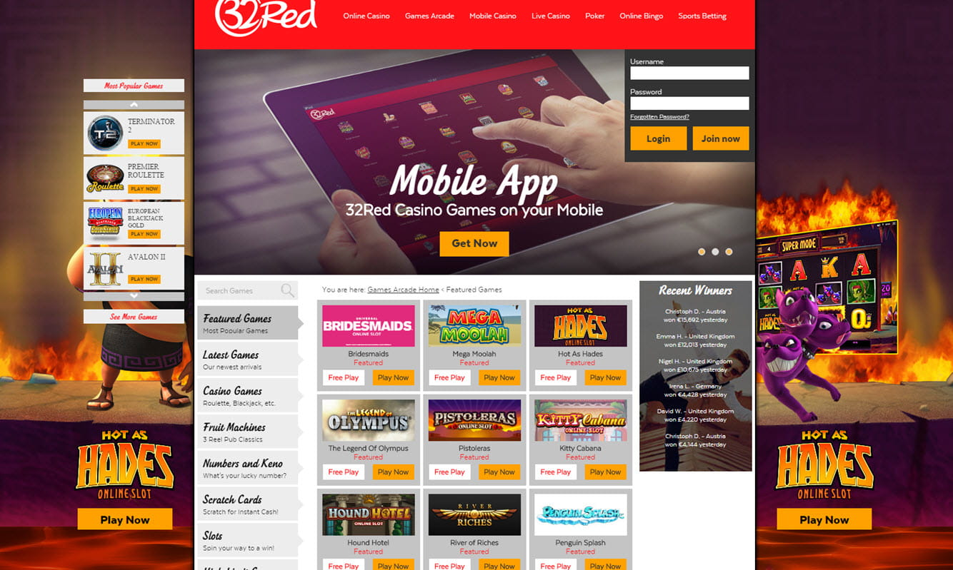 Red Ruby Rewards 32 Red Casino