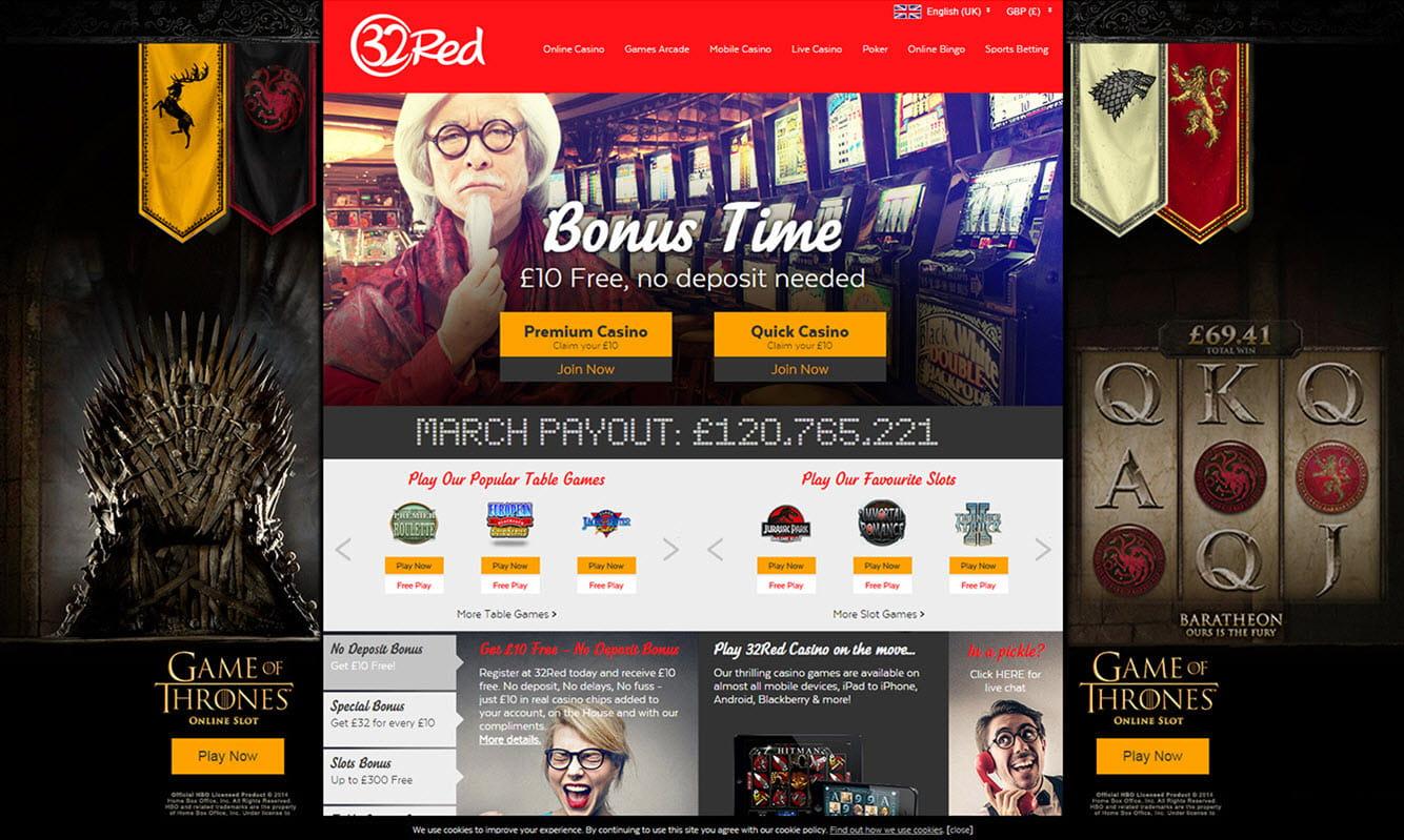 32Red Casino Bonus Codes