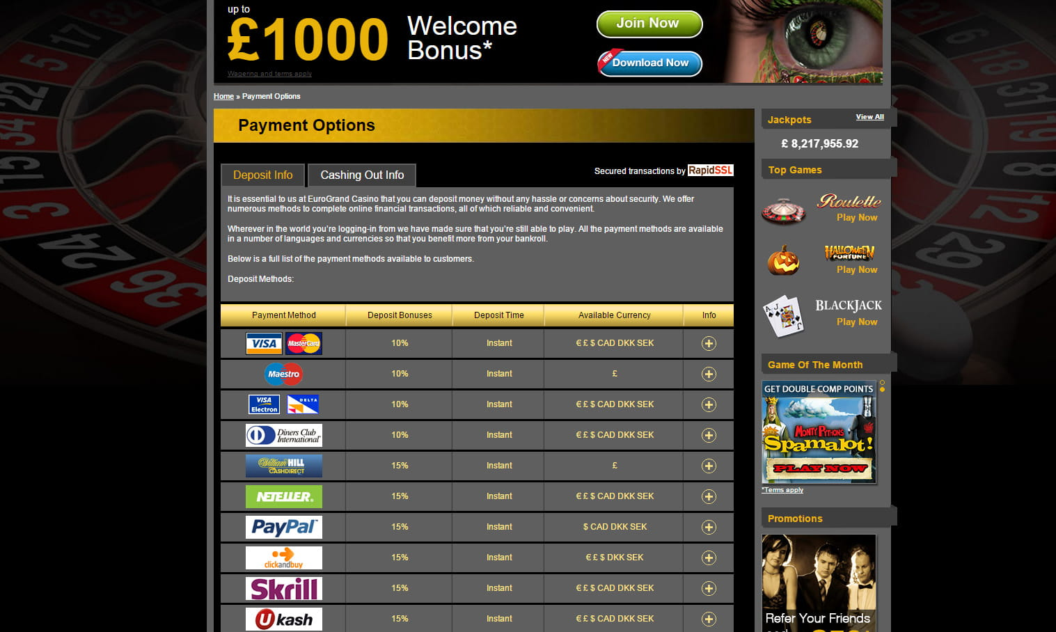 using paypal for online casino