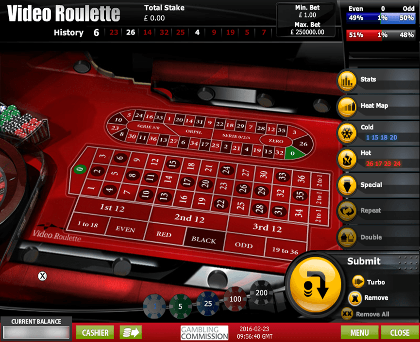 online casino roulette limits