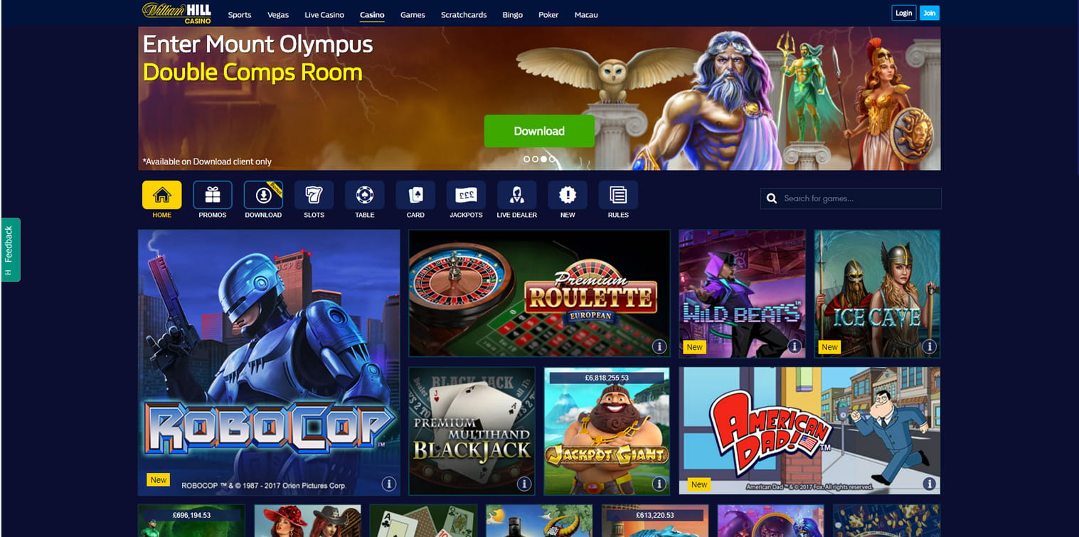 william hill casino online - play casino online games now
