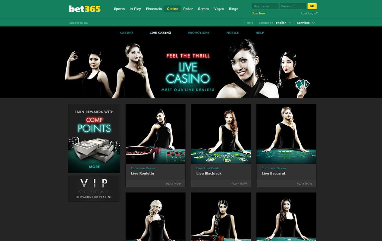 live casino online bet