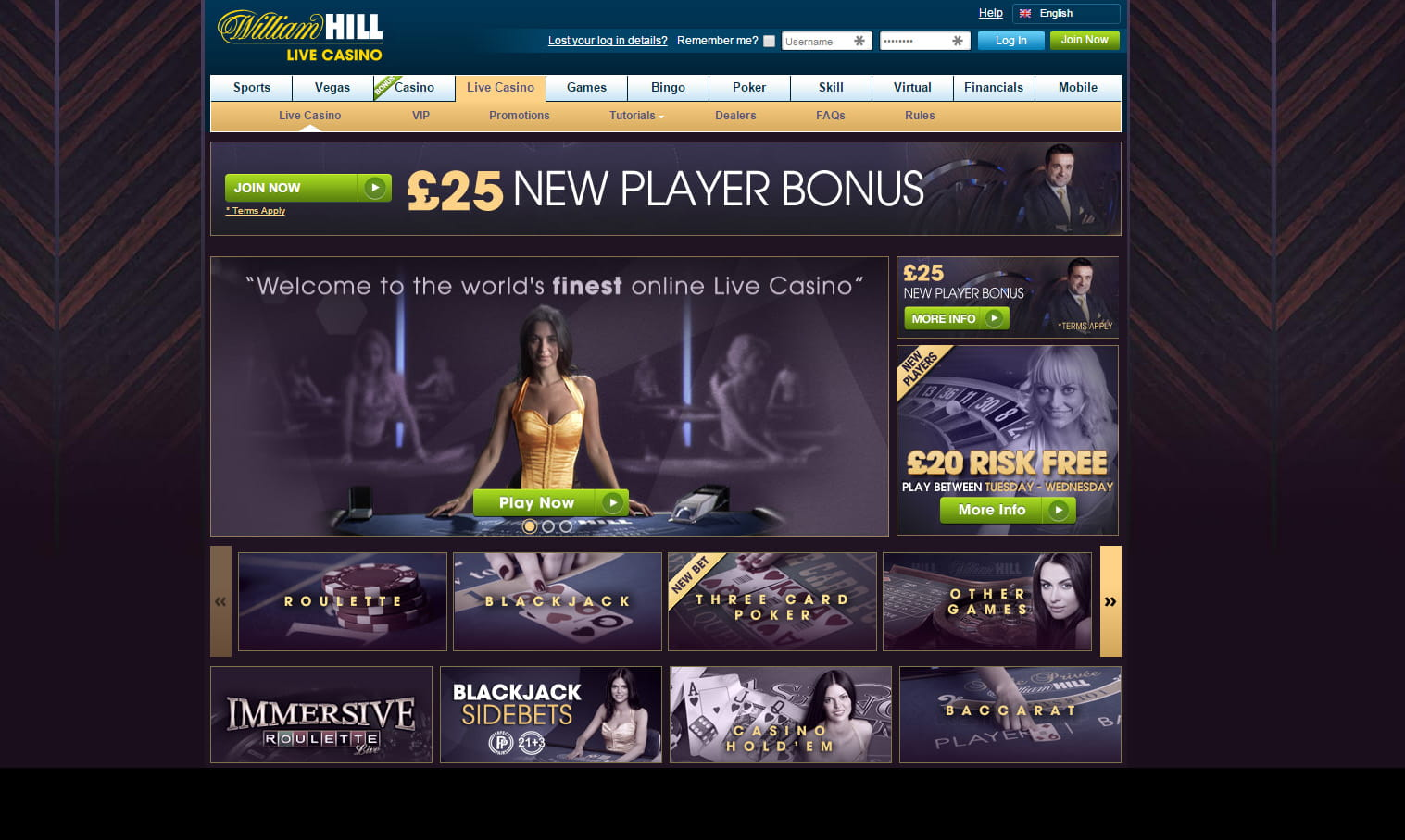 william hill online games